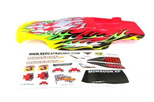 Redcat Racing Monsoon Body, Yellow and Red