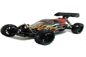 Redcat Racing Rampage XB-E Body, Black with Red Flame