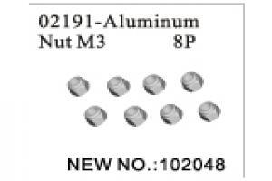 Alunium Nylon locknut M3