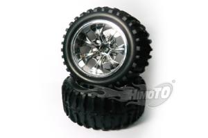 Chrome wheel and rims*2