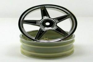 Chrome front 5 spoke wheels 2pcs