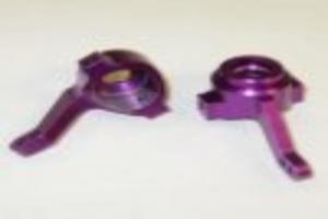 Aluminum steering arm purple