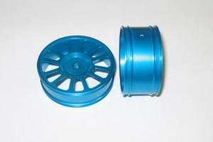 Blue aluminum wheels 2pcs