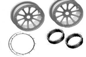 Wheels Rim Complete 2PCS