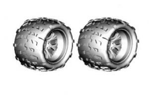 Chrome 7 spoke Wheels and tires(62010+62011) 2Pcs