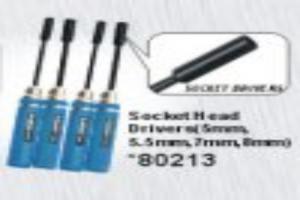 Nut driver set 8.0mm, 7.0mm, 5.5mm, 4.5mm