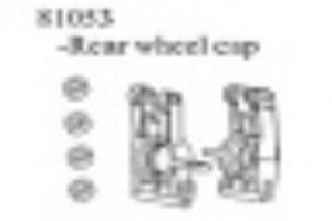Plastic Rear Hub Carrier 2Pcs