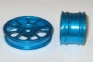 Blue aluminum wheel