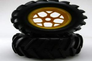 Yellow wheels and tires 2pcs