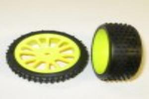 Yellow front wheels and tires 2pcs