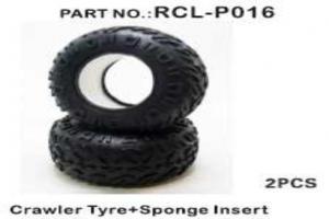Crawler Tires+Sponge Inserted