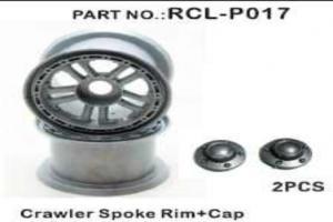 Crawler Spoke Rims+Caps