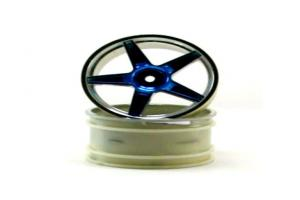 Chrome rear 5 spoke blue anodized wheels 2 pcs (06024pb)