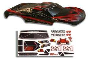 1/10 Short Course Truck Body Red and Black (55902)