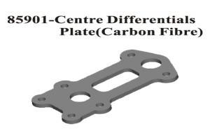 Carbon Fiber Center Diff Upper Plate (85901)