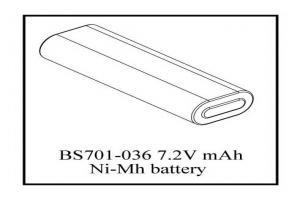 7.2V 1800mAh Ni-Mh battery (BS701-036)