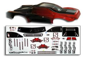 1/8 Short Course Truck Body Red and Black (BS804-002R)