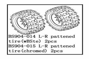 Tire Unit(Chromed)-V-pattern    2PCS (BS904-015)
