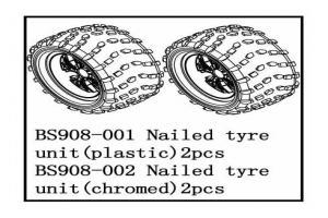 Tire unit(chromed) (BS908-002)