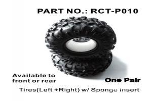 Tires(Left +Right) w/ Sponge Insert (RCT-P010)