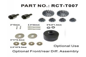 Optional front/rear diff. assembly (RCT-T007)