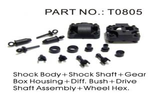 Shock Body, Shock Shaft, Differential Gear Box Housing, Differential Bushings, Drive Shaft Assembly,