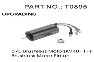 Sensorless 370 Brushless Motor 4811KV with Brushless Pinion (T08