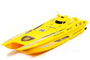 Big Miami Vice Admiral RC Speedboat, Yellow