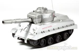 Mini RC Battle Tank B, Silver