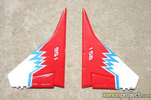 HC-Hobby Vertical Stabilizers Red