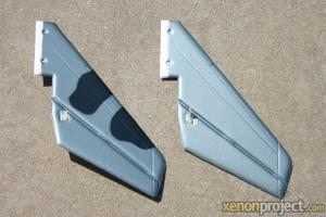 HC-Hobby Tail Fin Set Camo Grey