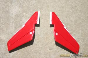 HC-Hobby Tail Fin Set Red