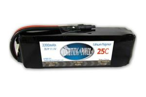 Lightning Power 2200mAh 25C 3S1P 11.1V Battery