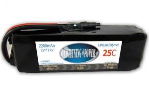 Lightning Power 2200mAh 25C 3S1P 7.4V Battery