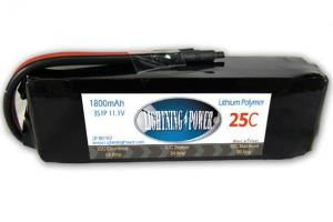 Lightning Power 1800mAh 25C 3S1P 11.1V Battery