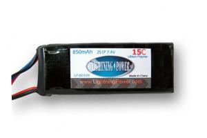 Lightning Power 850mAh 15C 2S1P 7.4V Lithum Polymer Battery