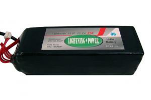 Lightning Power 3300mAh 25C 6S1P 22.2V Lithum Polymer Battery