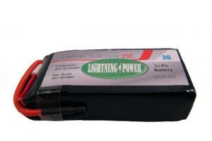 Lightning Power 1300mAh 25C 3S1P 11.1V Lithum Polymer Battery
