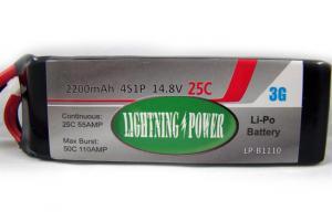 Lightning Power 2200mAh 25C 4S1P 14.8V Lithum Polymer Battery