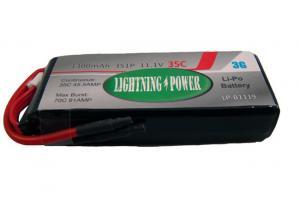 Lightning Power 1300mAh 35C 3S1P 11.1V Lithum Polymer Battery