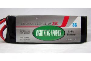 Lightning Power 1800mAh 25C 3S1P 11.1V Lithum Polymer Battery